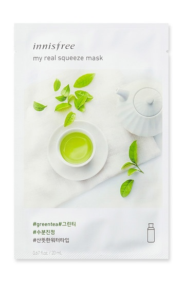 Innisfree it s real squeeze mask green tea