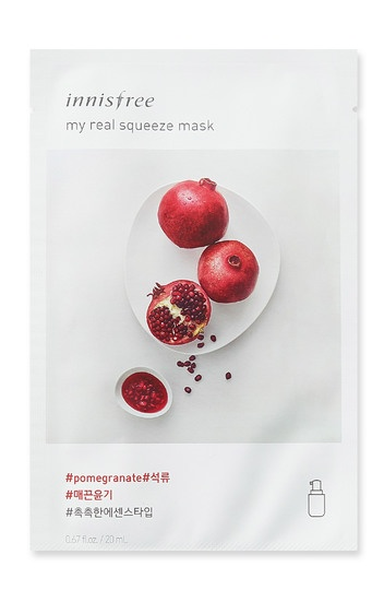Innisfree it s real squeeze mask pommy
