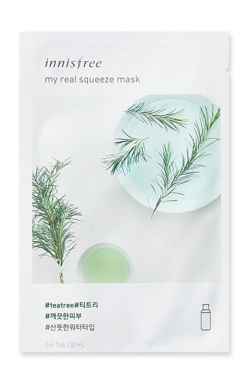 Innisfree it s real squeeze mask tea tree