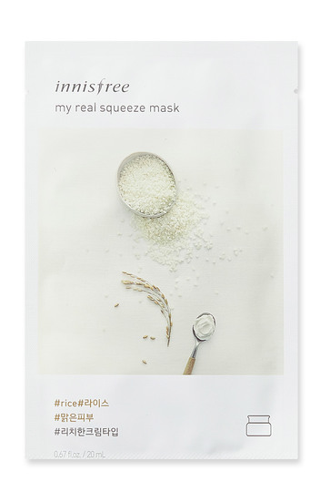 Innisfree it s real squeeze mask rice